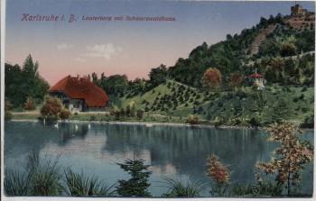 AK Karlsruhe Lauterberg mit Schwarzwaldhaus 1910