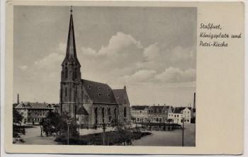 AK Staßfurt Königsplatz und Petri-Kirche 1943