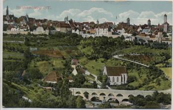 AK Rothenburg ob der Tauber Ortsansicht mit Brücke 1910