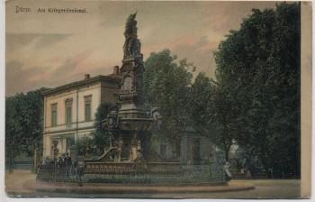 AK Düren Am Kriegerdenkmal 1904