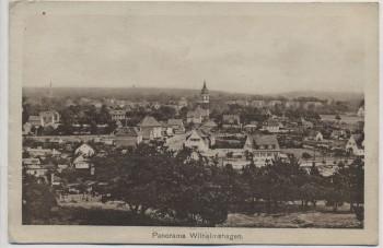 VERKAUFT !!!   AK Berlin Wilhelmshagen Rahnsdorf Panorama mit Kirche und Villenkolonie 1920