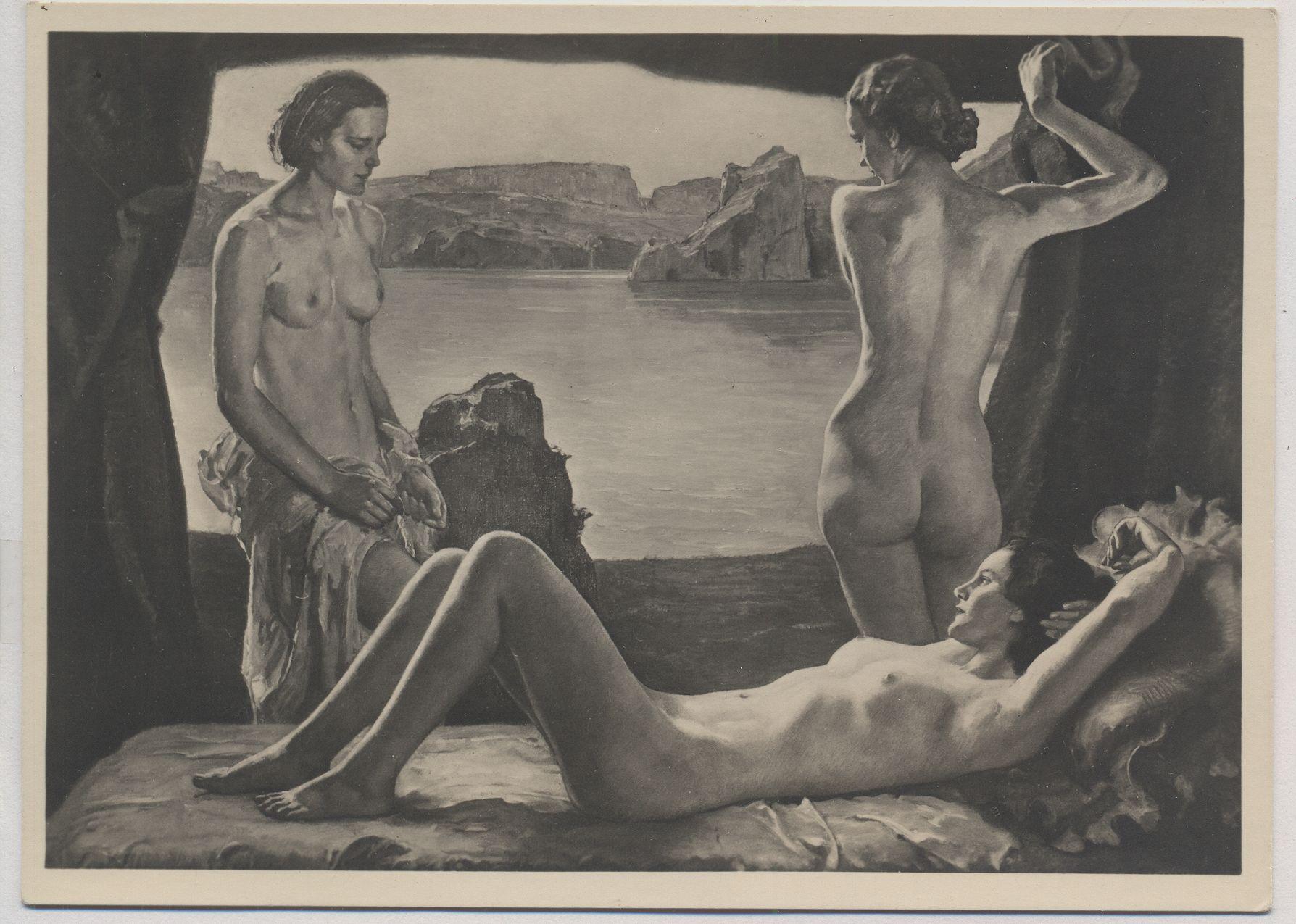 Erotische Kunst der schwarzen Frau