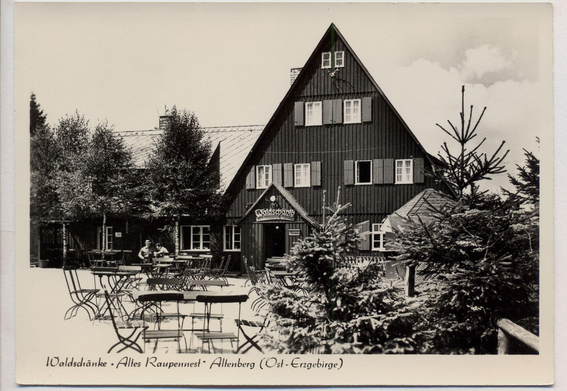 Altenberg Erzgebirge Waldschänke Raupennest ansichtskarten markt kaufen