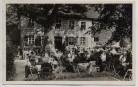 AK Foto Bayreuth Schloß Eremitage Schloß-Cafe und Restaurant viele Menschen 1935