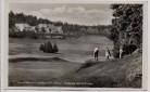 AK Foto Oberhof in Thüringen Golfhotel mit Golfwiese 1940