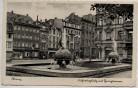 AK Foto Mainz Fischertorplatz mit Springbrunnen Gasthof Taunus und Hotel Germania 1942 RAR