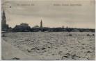 AK Dresden Friedrich August-Brücke Die zugefrorene Elbe 1912