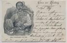 AK Gruss aus Hamburg König Chulalongkorn von Siam 1897