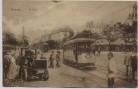 AK Hamburg St. Pauli Straßenbahn Auto Taxi vor Hammonia-Hotel Feldpost 1918 RAR