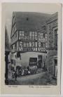 AK Ürzig an der Mosel Haus am Marktplatz mit Menschen 1910