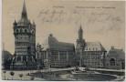 AK Worms Eleonorenschule und Wasserturm 1908