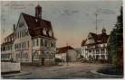 AK Bad Georgenthal in Thüringen St. Georgenplatz mit Hotel Klosterhof Inflation 1922