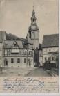 AK Stolberg im Harz Post und Seizerturm mit Hotel Preussischer Hof 1907