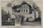 AK Gruss aus Rannstedt Gasthof Kirche Kammergut bei Bad Sulza 1908 RAR
