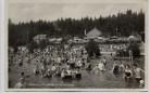 AK Foto Tüppelsgrün Děpoltovice bei Karlsbad Karlovy Vary Strandbad mit vielen Menschen Böhmen Tschechien 1930