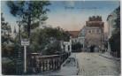 AK Stendal Vor dem Tangermünder Tor mit Verkehrsschild 1920