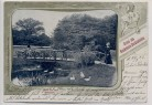 AK Hamburg Gruss aus Blankenese Dockenhuden Partie aus dem Hirschpark Brücke Menschen 1902