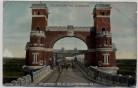 AK Levensau Hochbrücke Menschen Pferde bei Suchsdorf Kiel 1910