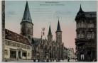 AK Kaiserlautern Marktstrasse mit Stiftskirche goldene Fenster 1911