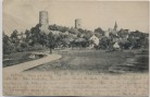 AK Kohren-Sahlis Ruine mit Kirche 1908