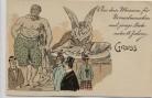 Künstler-AK Lex Heinze Gruss aus dem Museum für Normalmenschen und junge Leute unter 18 Jahren Herkules Amor und Psyche 1900 RAR