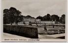 AK Foto Hannover Herrenhausen Großer Garten Luststück mit Schloß und Fahnen 1935