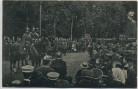VERKAUFT !!!   AK Quedlinburg Einzug der 165 er Ansprache des Vorsitzenden des Kreiskrieger-Verbandes viele Menschen 1911 RAR