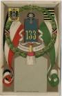 AK Zwickau Providentiae Memor 9. Infanterie Regiment Nr. 133 Wappen Helm Fahnen Sachsen 1909 RAR