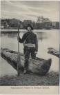 AK Kaschubei Kaszuby Fischer im Einbaum Mann Pommerellen Pommern Polen 1910 RAR