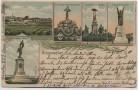 AK Litho Amanweiler Amanvillers Denkmäler Grand Est Lothringen Frankreich 1910 RAR