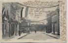 AK Aurich Norderstrasse und Viehmarkt Fahnen 1907 RAR