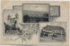 AK Gruss aus Lörrach Stetten Kirche Gasthaus zum Adler Ortsansicht 1909 RAR