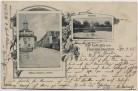 AK Gruss aus Rheindürkheim Rathaus Fährhaus bei Worms 1905 RAR