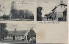 AK Gruss aus Gerswalde Kirche Kriegerdenkmal Postamt Marstall Uckermark 1910 RAR