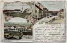 AK Litho Gruss aus Eichendorf Espat Marktplatz Pfarrhaus 1900