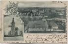 AK Gruss aus Pretzschendorf Ortsansicht mit Kirche bei Klingenberg Sachsen 1900