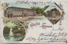 AK Litho Gruss aus Hanau Kurhaus Stadtheater ... 1903