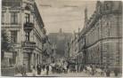 AK Flensburg Rathausstrasse viele Menschen Autos 1911