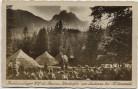 VERKAUFT !!!   AK Mittenwald Hochlandlager des Banners Werdenfels am Lautersee 1937 RAR