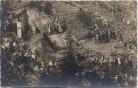 AK Foto Werl in Nordrhein-Westfalen Kundgebung im Steinbruch viele Menschen Fahnen 1935 RAR