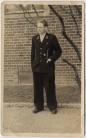 AK Foto Soldat in Uniform Abzeichen 2. WK 1940
