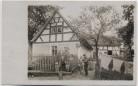 AK Foto Moßbach in Thüringen Hausansicht mit Menschen Fahrrad bei Dittersdorf Tegau 1920 RAR