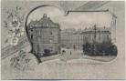 AK Passepartout Glauchau Brücke an der Hoffnung und Schlachthofstrasse 1900 RAR