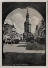 AK Bad Schandau Marktplatz mit Autos Sächsische Schweiz 1940