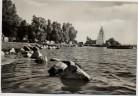 AK Foto Retgendorf Strandbad und Zeltplatz bei Hohen Viecheln Schwerin 1968