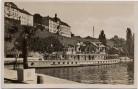 AK Foto Meersburg am Bodensee Reichsfinanzschule mit Dampfer Oesterreich 1935