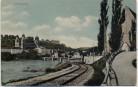 AK Passau Ortsansicht mit Inn und Bahngleis 1913