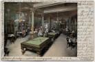 AK Bozen Hotel Kamposch Walter von der Vogelweide Saal mit Billardtischen Südtirol Italien 1905 RAR