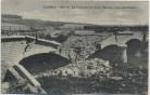 AK Conflans-en-Jarnisy gesprengte Brücke Feldpost 1.WK Meurthe-et-Moselle Frankreich 1917