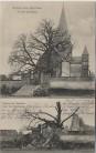 AK Dontrien Kirche vor und nach der Sprengung 1. WK Feldpost Marne Frankreich 1915